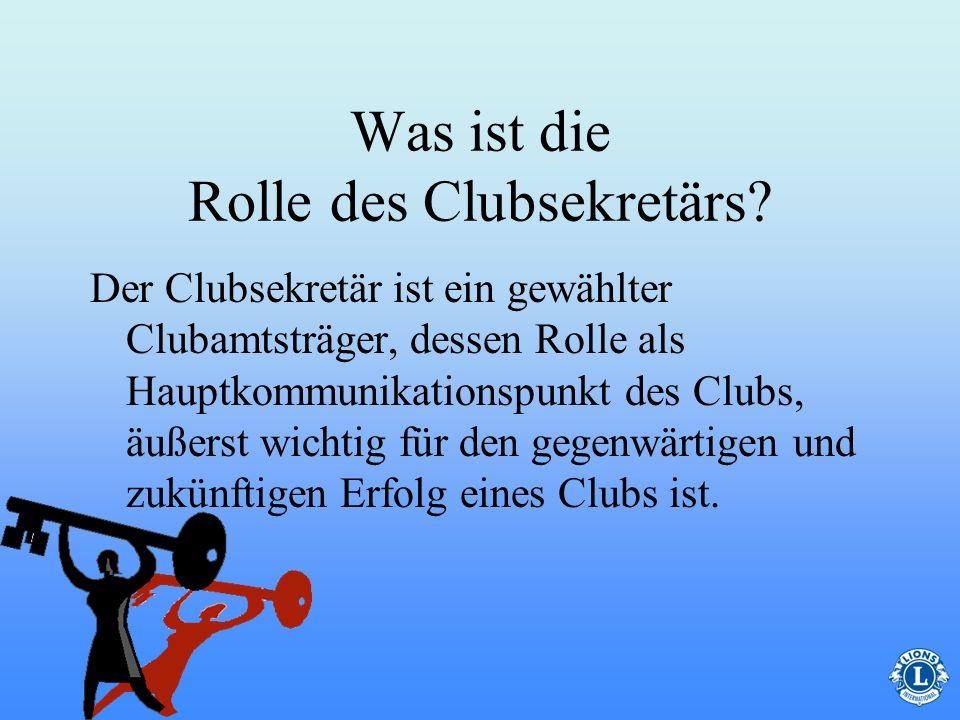 Was ist die Rolle des Clubsekretärs