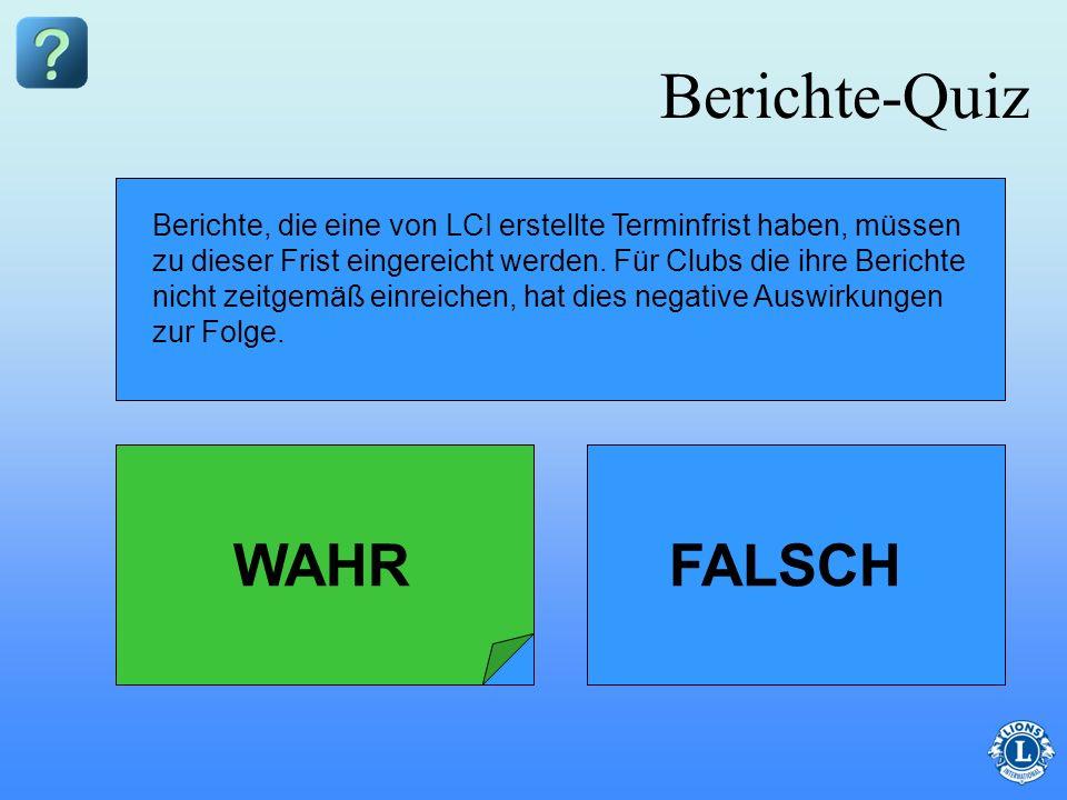 Berichte-Quiz WAHR FALSCH
