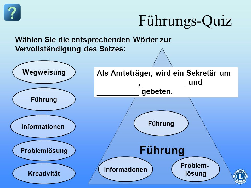 Führungs-Quiz Führung