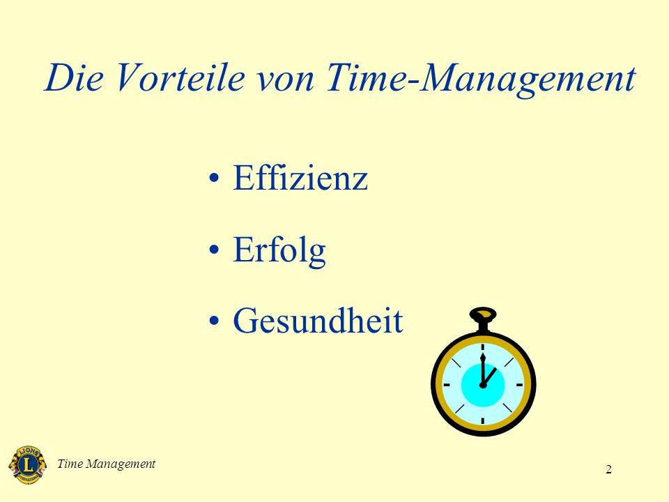 Die Vorteile von Time-Management