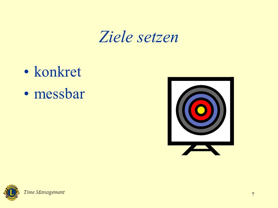 Ziele setzen konkret messbar Time Management