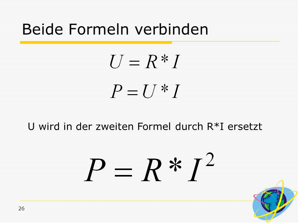 Beide Formeln verbinden