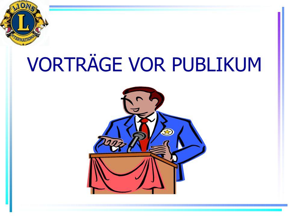 VORTRÄGE VOR PUBLIKUM
