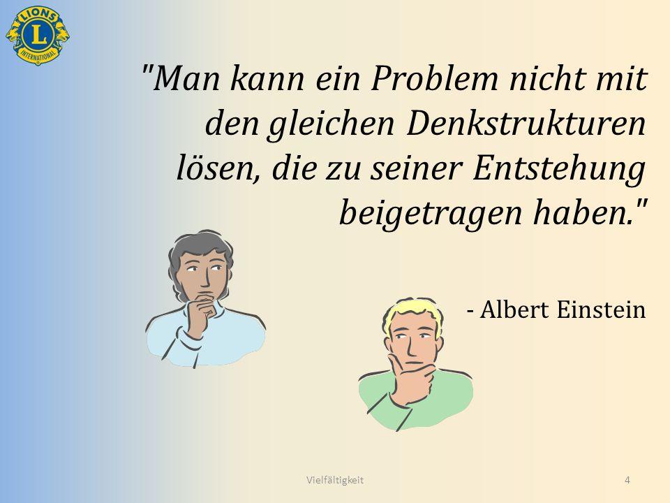 Man kann ein Problem nicht mit den gleichen Denkstrukturen lösen, die zu seiner Entstehung beigetragen haben.