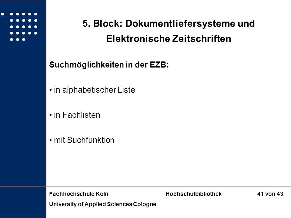 5. Block: Dokumentliefersysteme und