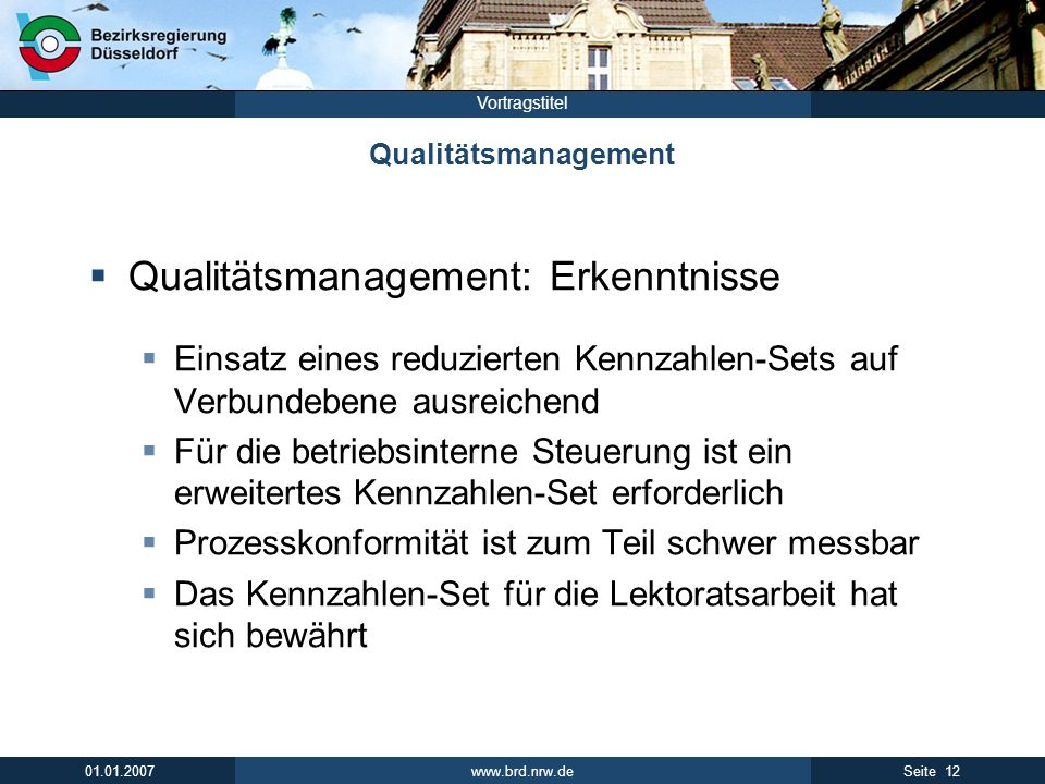 Qualitätsmanagement: Erkenntnisse