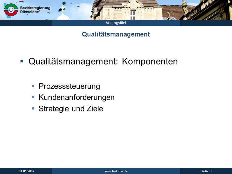 Qualitätsmanagement: Komponenten