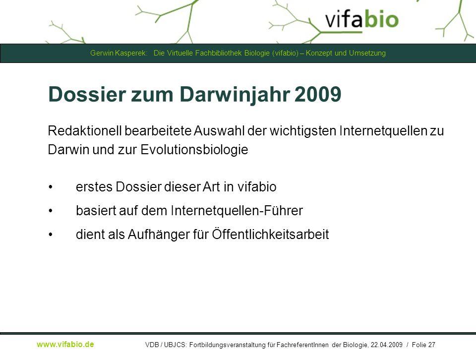 Dossier zum Darwinjahr 2009