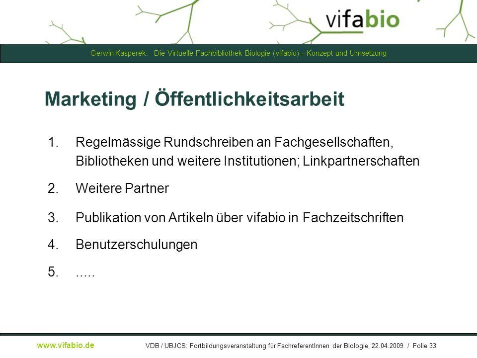 Marketing / Öffentlichkeitsarbeit