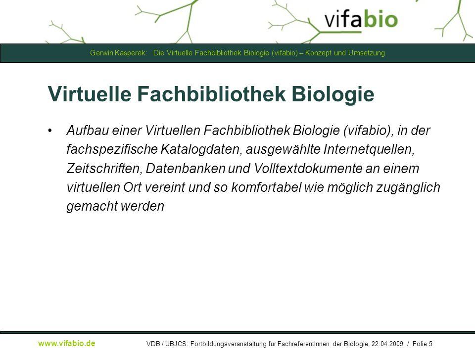 Virtuelle Fachbibliothek Biologie