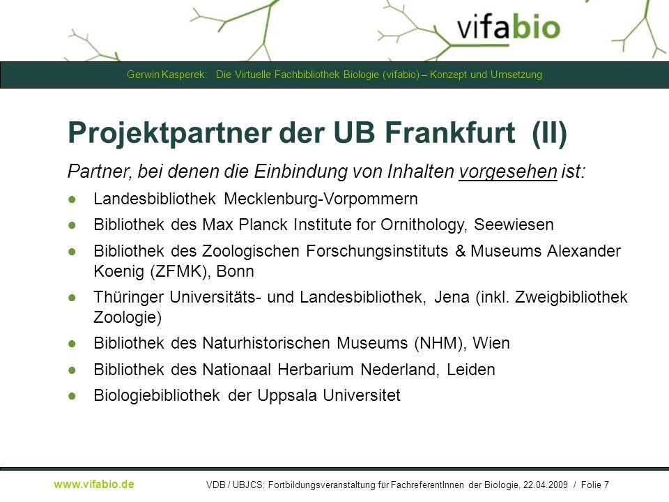 Projektpartner der UB Frankfurt (II)
