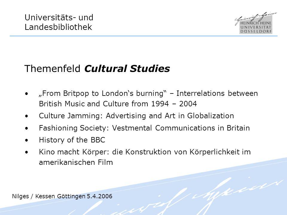 Themenfeld Cultural Studies