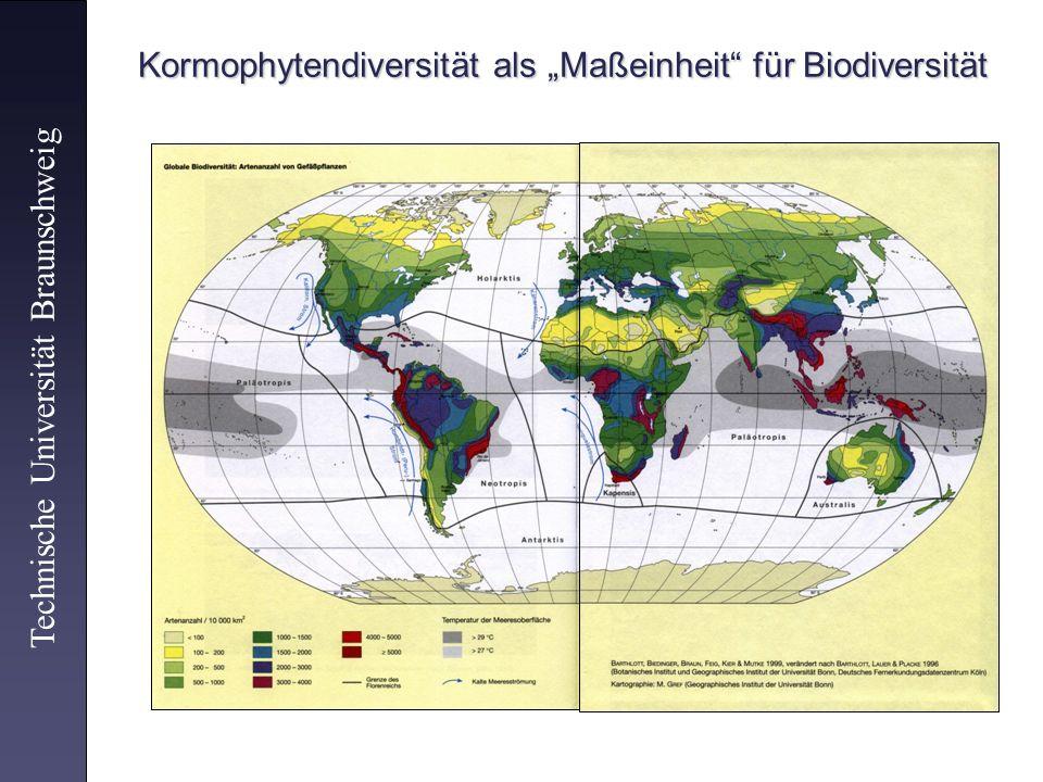 """Kormophytendiversität als """"Maßeinheit für Biodiversität"""