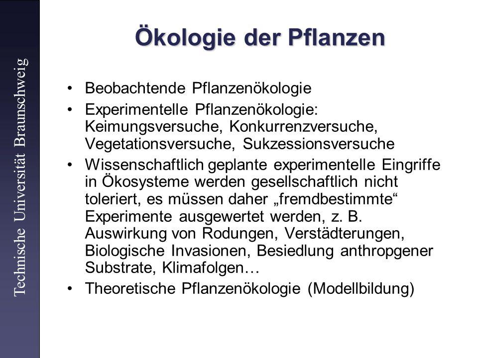 Ökologie der Pflanzen Beobachtende Pflanzenökologie