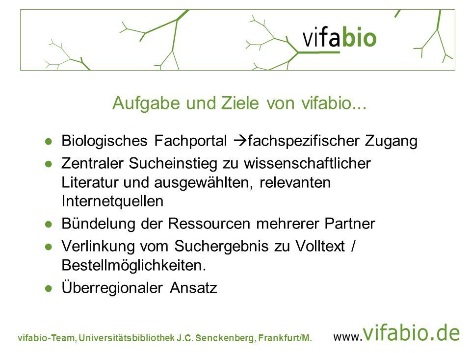 Aufgabe und Ziele von vifabio...