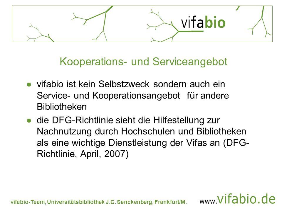 Kooperations- und Serviceangebot