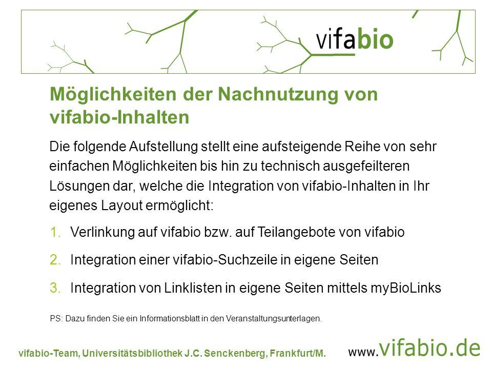 Möglichkeiten der Nachnutzung von vifabio-Inhalten
