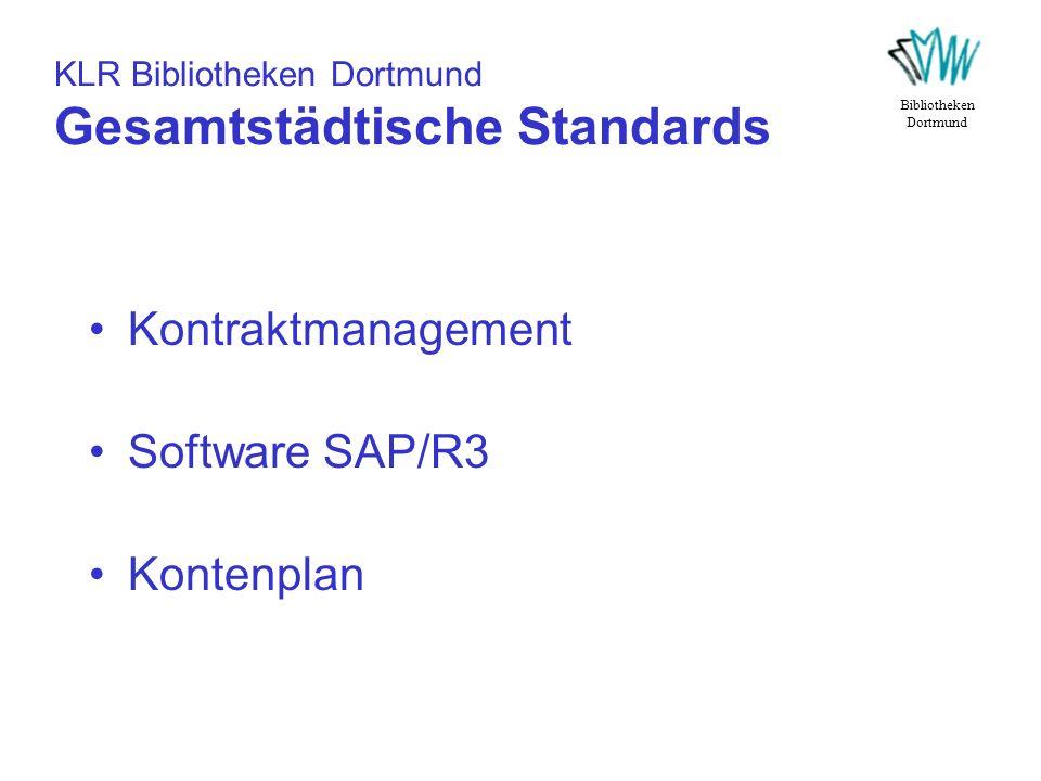 KLR Bibliotheken Dortmund Gesamtstädtische Standards