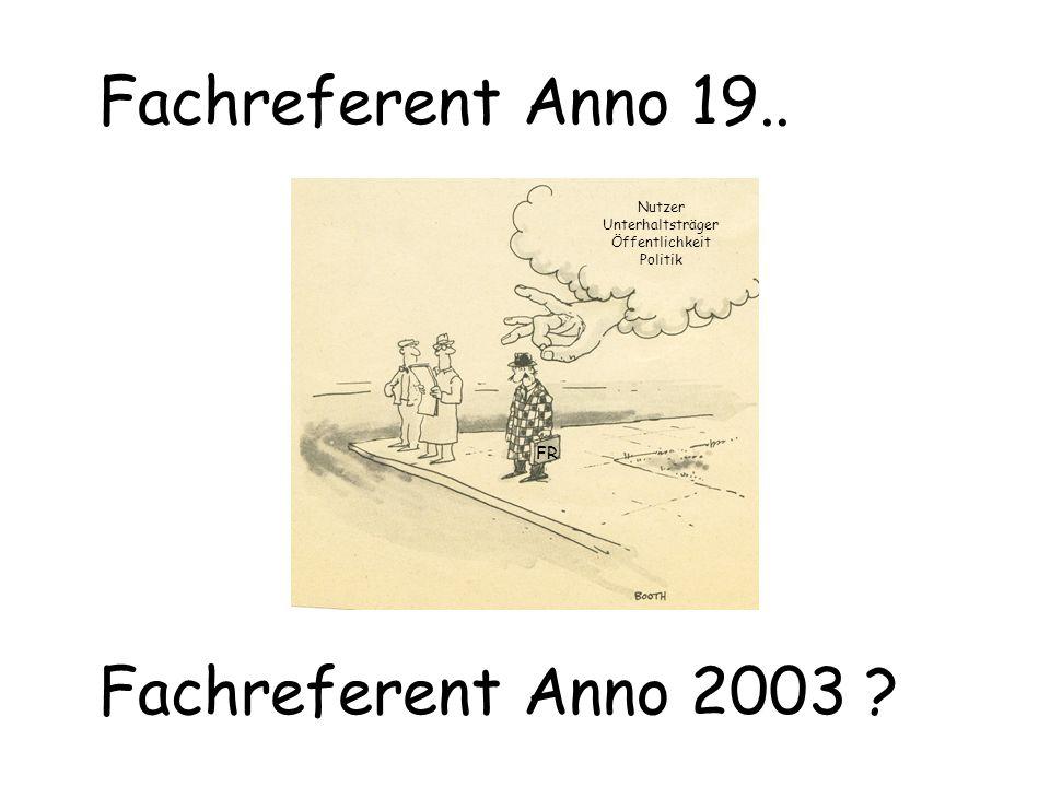 Fachreferent Anno 19.. Fachreferent Anno 2003 FR Nutzer