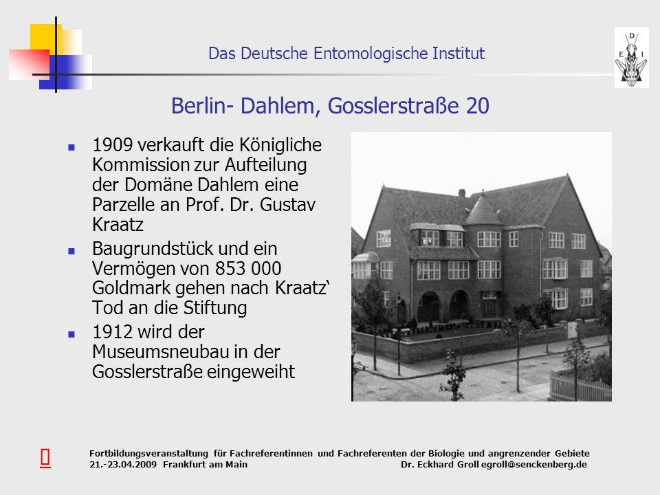 Berlin- Dahlem, Gosslerstraße 20