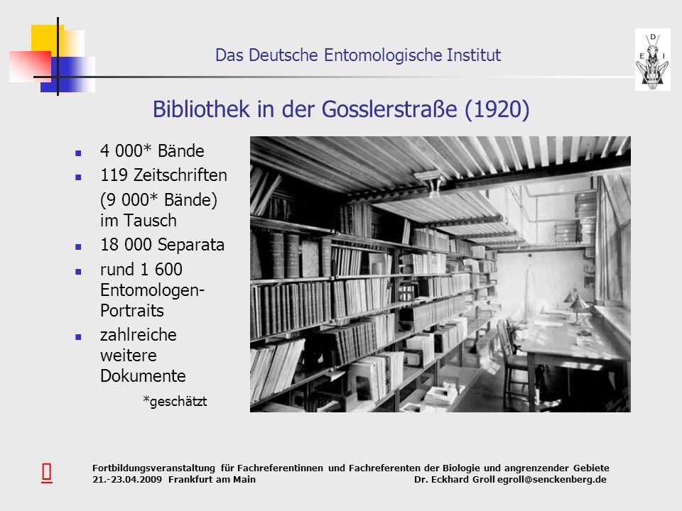 Bibliothek in der Gosslerstraße (1920)