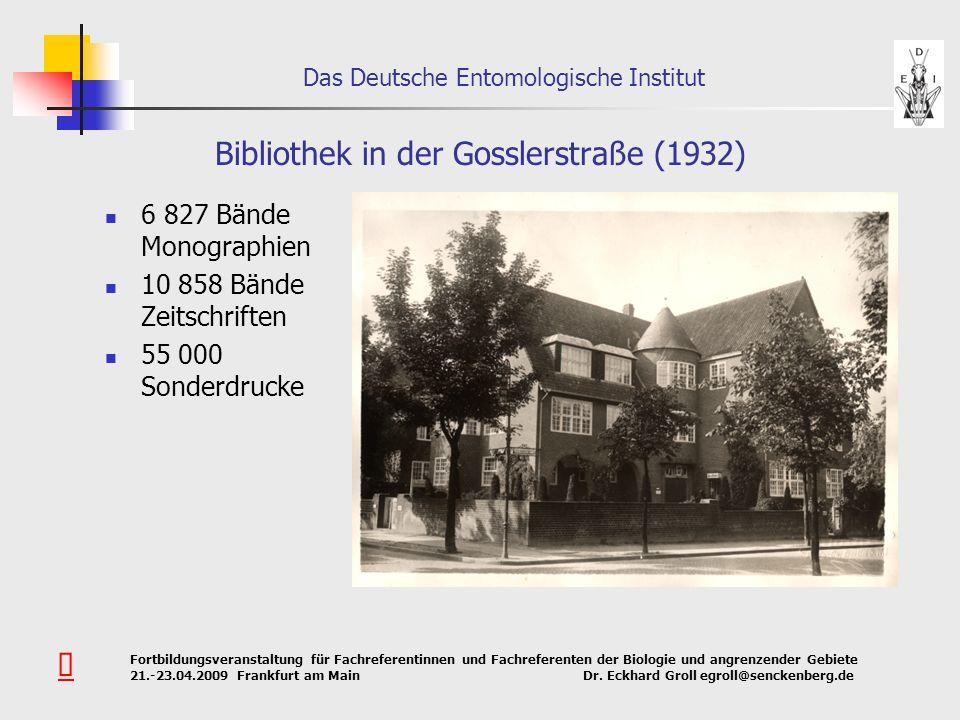 Bibliothek in der Gosslerstraße (1932)