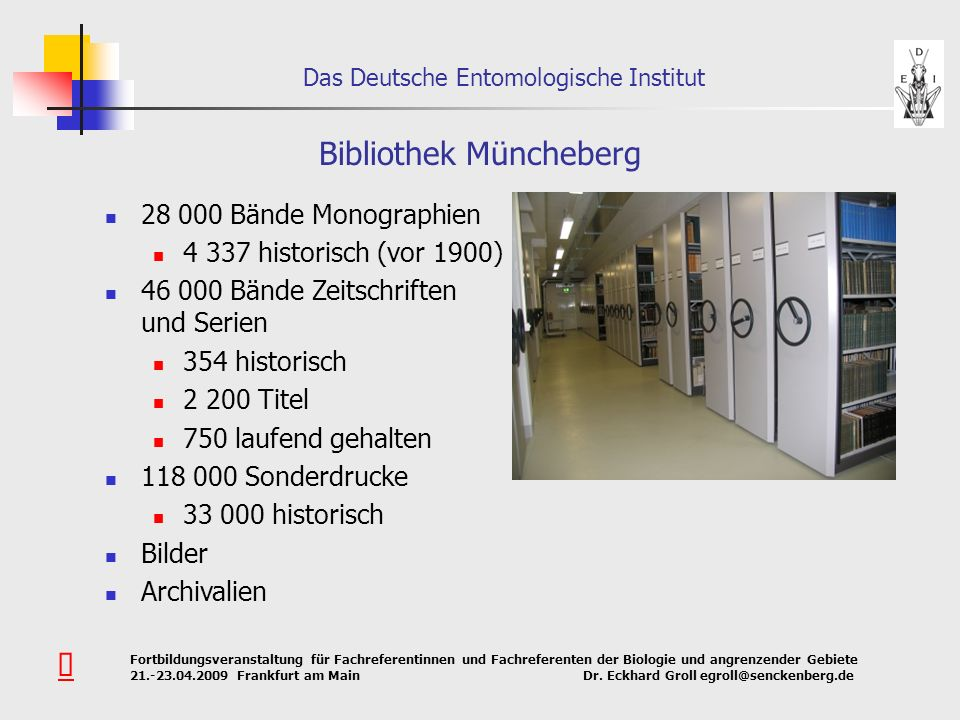 Bibliothek Müncheberg
