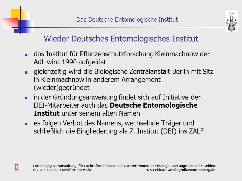 Wieder Deutsches Entomologisches Institut