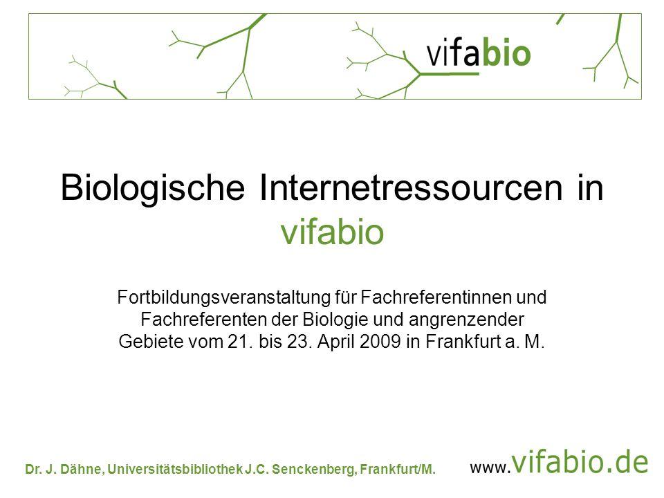 Biologische Internetressourcen in vifabio