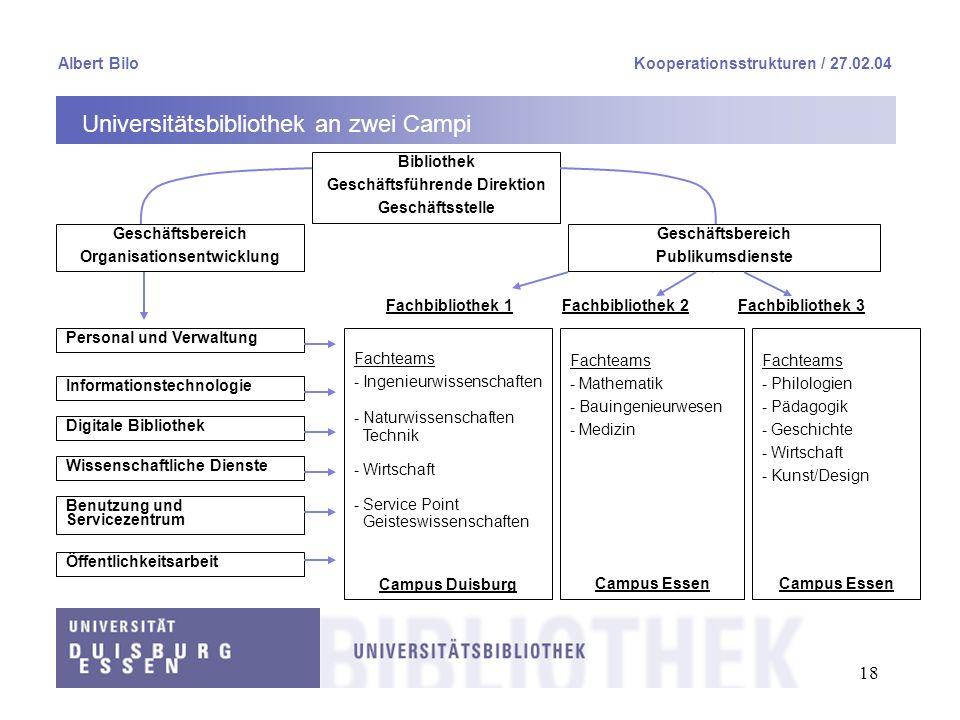 Geschäftsführende Direktion Organisationsentwicklung