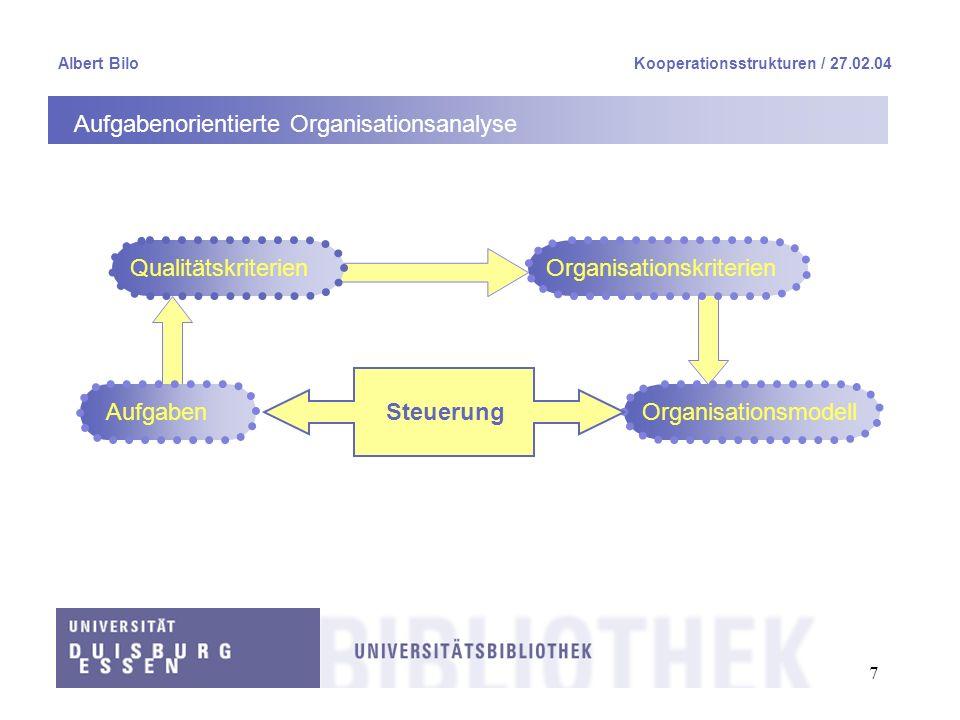 Aufgabenorientierte Organisationsanalyse