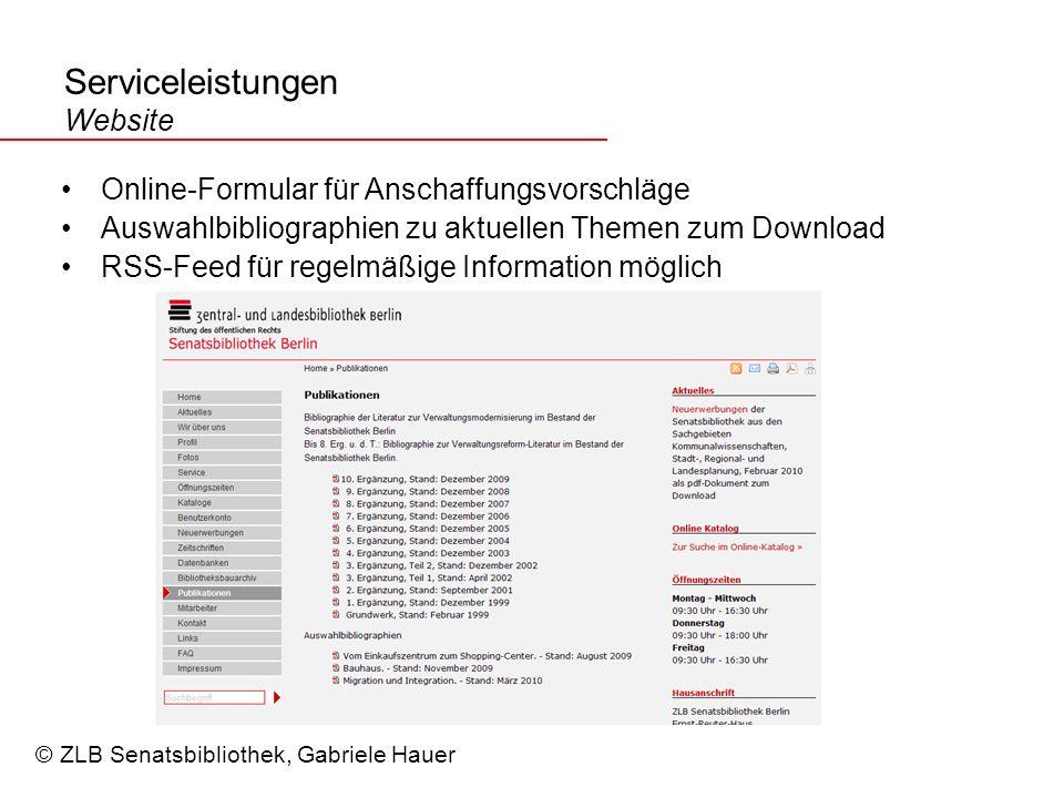 Serviceleistungen Website