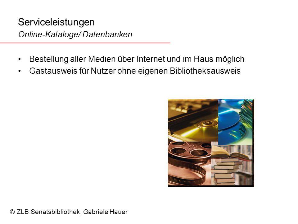 Serviceleistungen Online-Kataloge/ Datenbanken