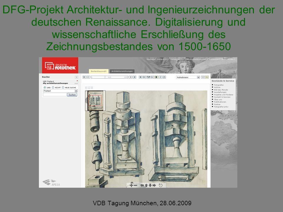 DFG-Projekt Architektur- und Ingenieurzeichnungen der deutschen Renaissance. Digitalisierung und wissenschaftliche Erschließung des Zeichnungsbestandes von 1500-1650