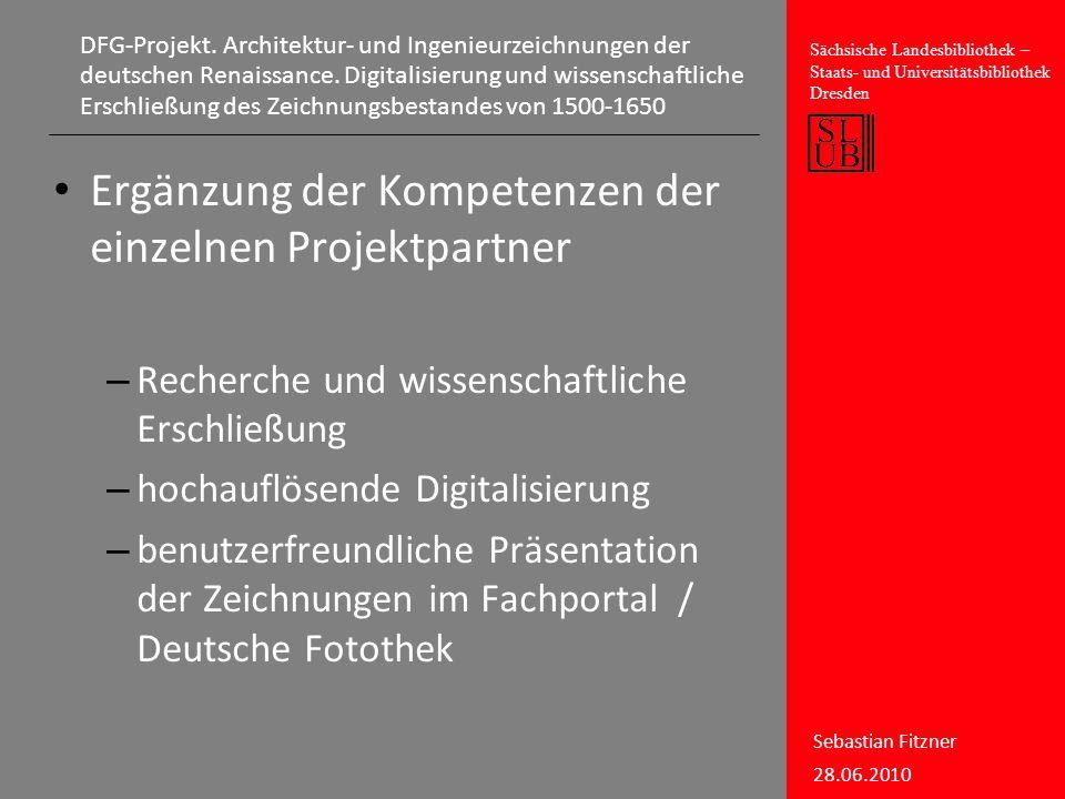 Ergänzung der Kompetenzen der einzelnen Projektpartner