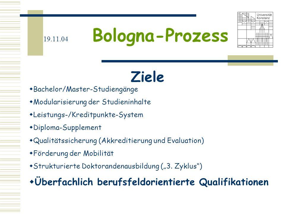 Ziele Überfachlich berufsfeldorientierte Qualifikationen