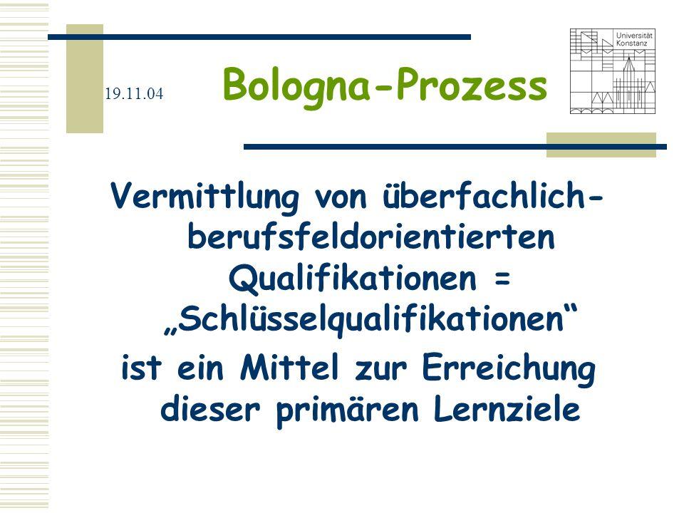 19.11.04 Bologna-Prozess