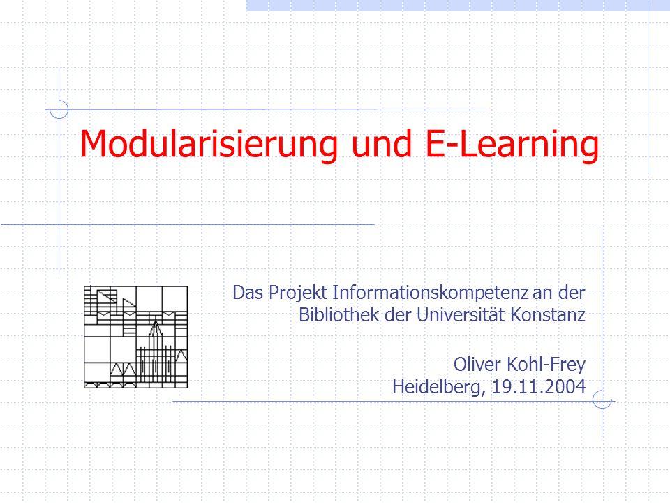 Modularisierung und E-Learning