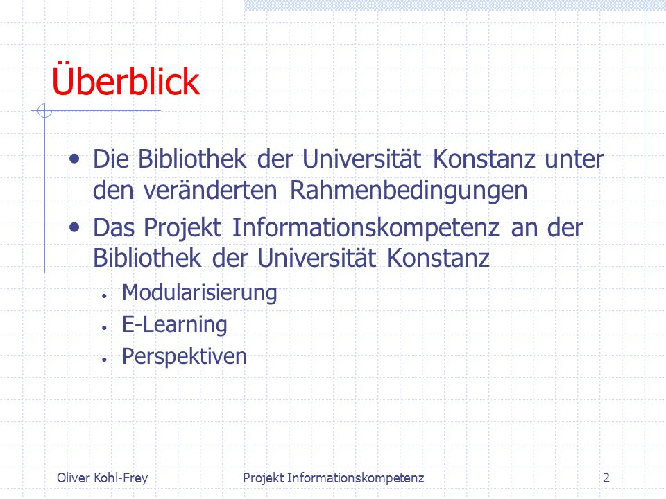 Projekt Informationskompetenz