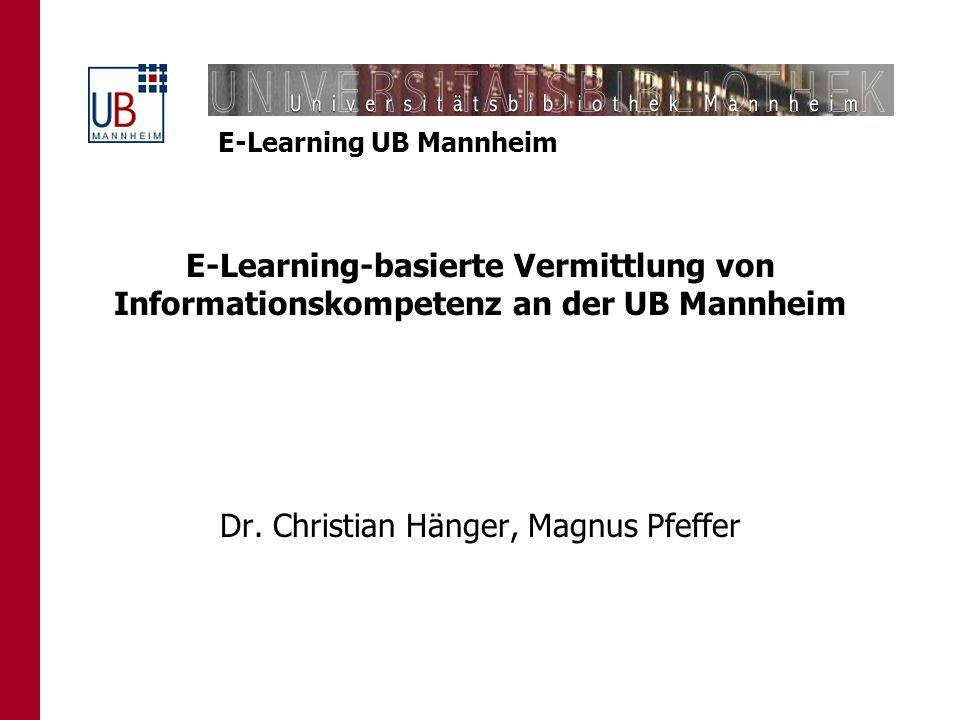 Dr. Christian Hänger, Magnus Pfeffer