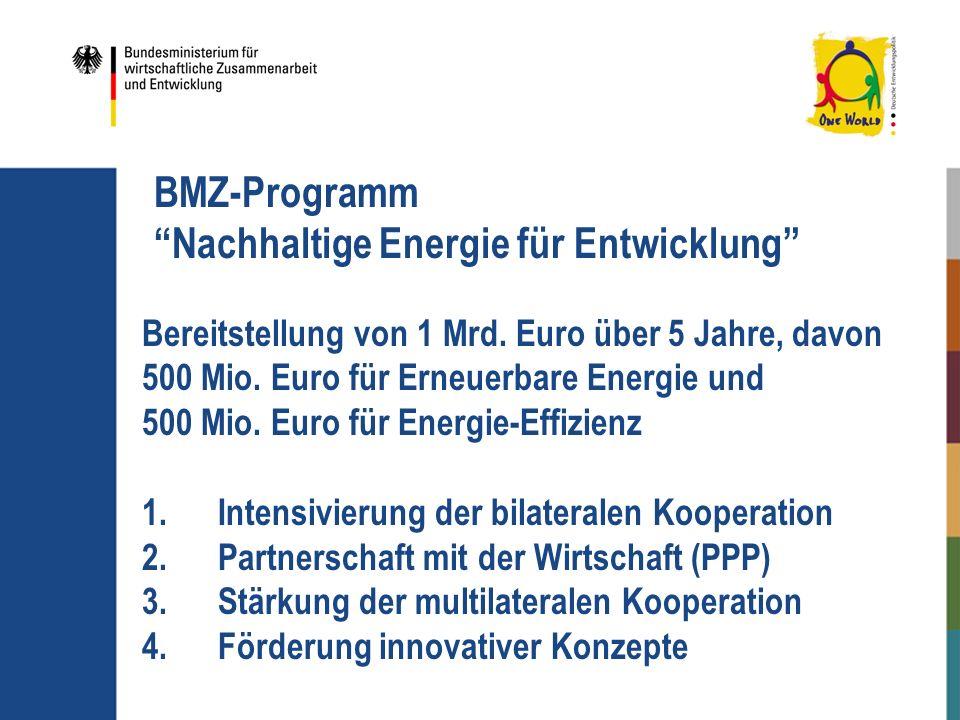 BMZ-Programm Nachhaltige Energie für Entwicklung