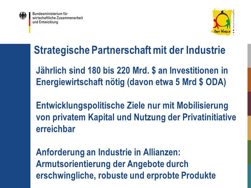 Strategische Partnerschaft mit der Industrie