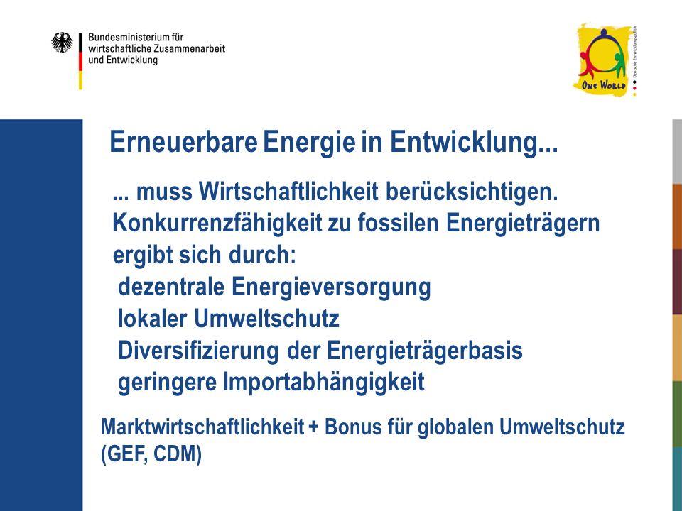 Erneuerbare Energie in Entwicklung...