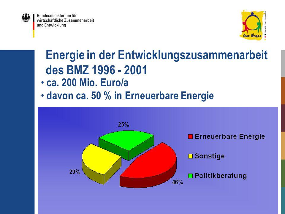 Energie in der Entwicklungszusammenarbeit des BMZ 1996 - 2001