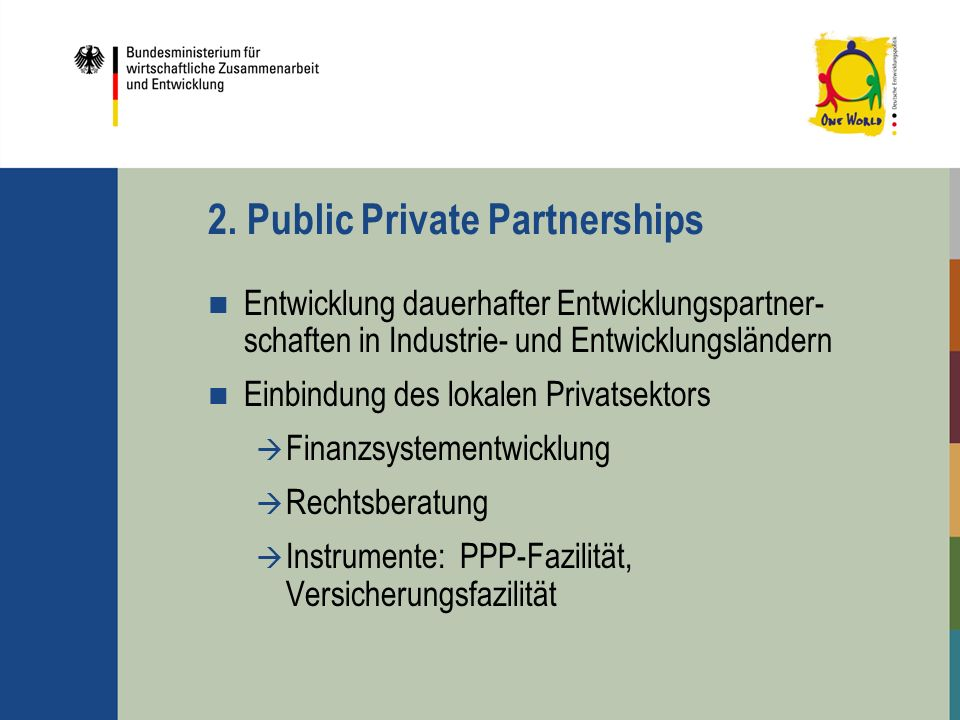 2. Public Private Partnerships