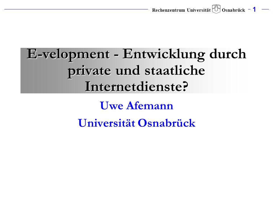 Uwe Afemann Universität Osnabrück