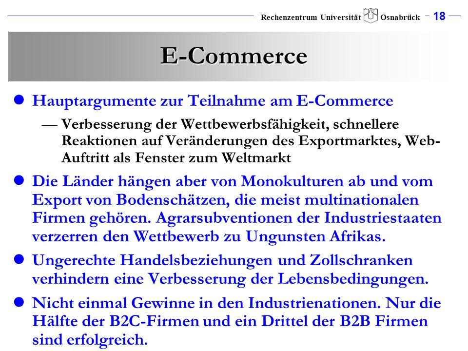 E-Commerce Hauptargumente zur Teilnahme am E-Commerce
