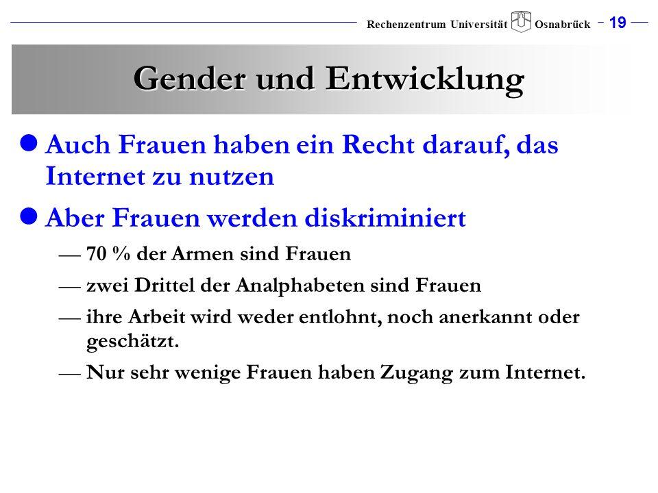 Gender und Entwicklung