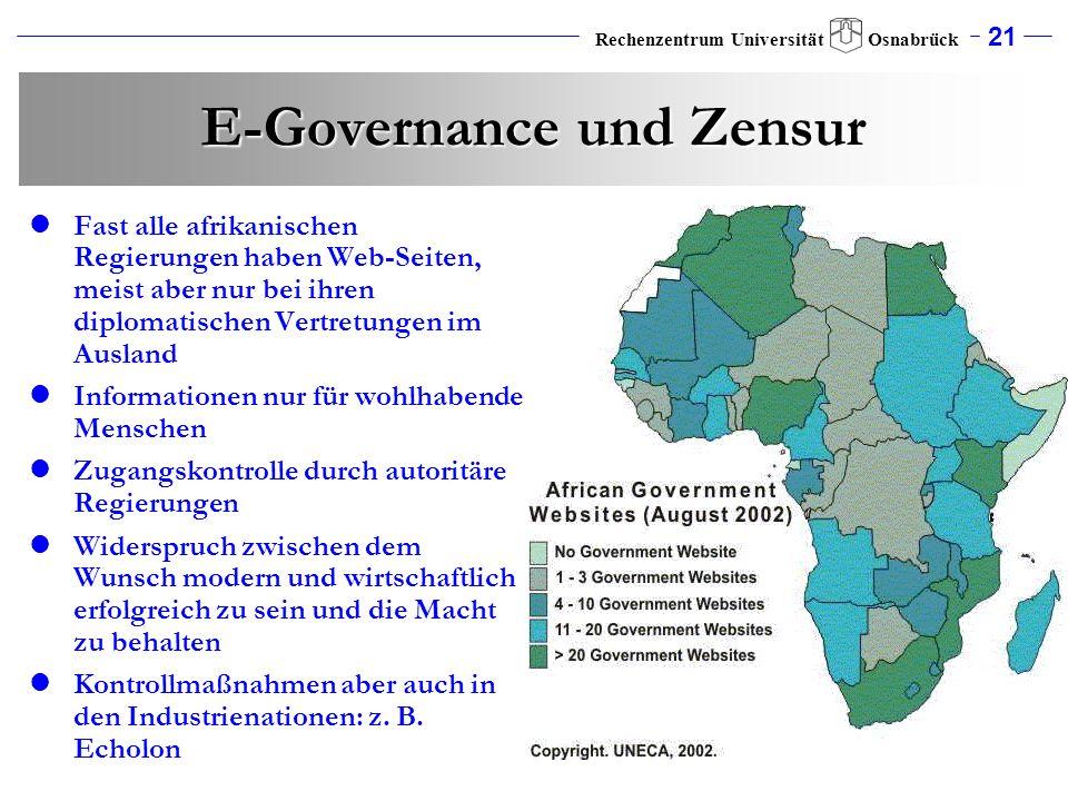 E-Governance und Zensur