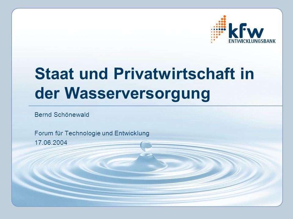 Staat und Privatwirtschaft in der Wasserversorgung